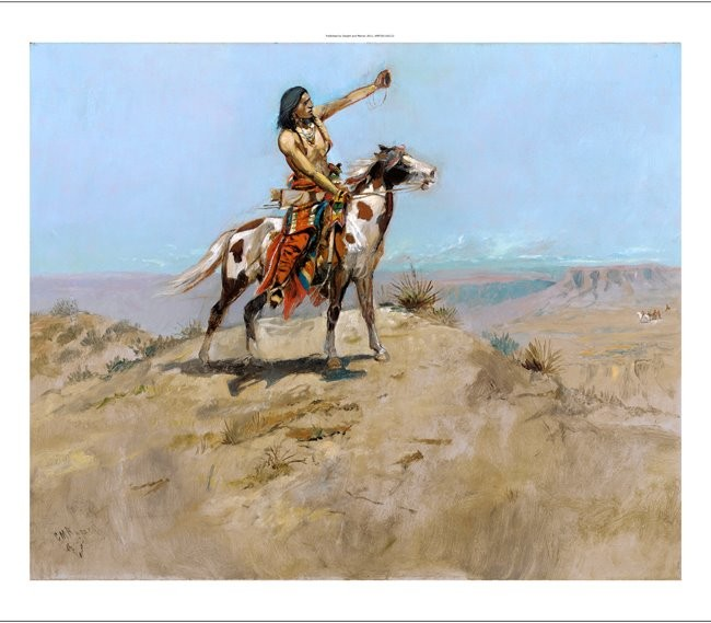 "CHARLES MARION RUSSELL ""The Signal"" native american various SIZES available, NEW"