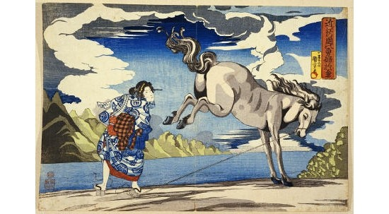 """KUNIYOSHI """"Strong Woman, Okane"""" Print NEW choose your SIZE, from 55cm to X LARGE"""