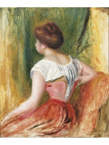 """PIERRE AUGUSTE RENOIR """"Young Woman Sitting"""" ON CANVAS! various SIZES, BRAND NEW"""