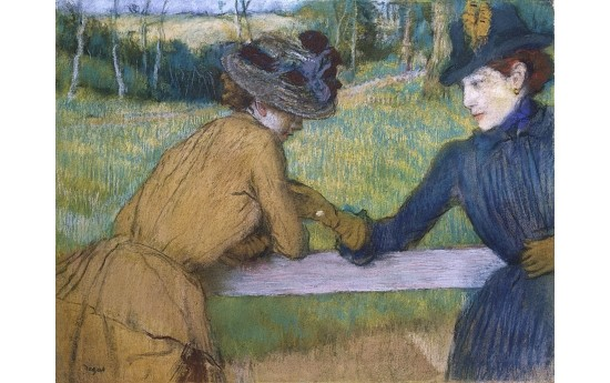 """EDGAR DEGAS """"Two Women Leaning On Fence Rail"""" ON CANVAS various SIZES, BRAND NEW"""