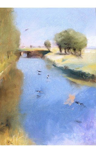 """LESSEY URY """"Landscape With A Canal"""" BROWSE our shop! various SIZES available"""