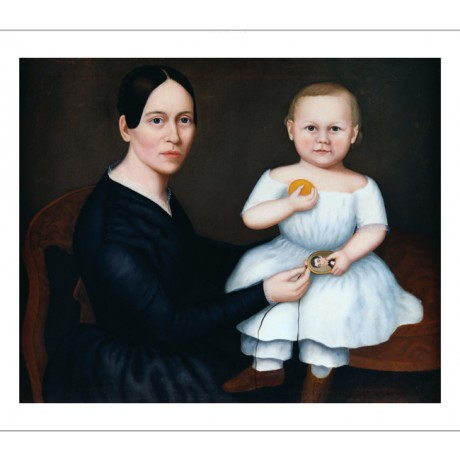 "AMERICAN SCHOOL ""Woman And Child"" PRINT ON CANVAS! choose your SIZE, from 55cm"