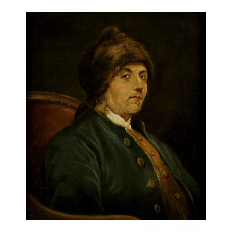 "JOHN BAPTISTE LIENARD ""Benjamin Franklin"" PRINT choose your SIZE, from 55cm up"