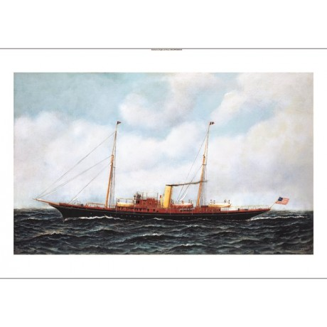 "ANTONIO JACOBSEN ""Steamship Riviera"" BOAT CANVAS PRINT! various SIZES, BRAND NEW"