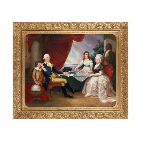 "EDWARD SAVAGE ""George Washington And Famiy"" ON CANVAS! various SIZES, BRAND NEW"