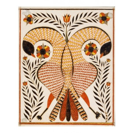 RUDOLPH LANDES Intertwined Parrots print NEW ON CANVAS various SIZES, BRAND NEW