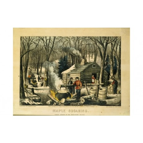 CURRIER & IVES Maple Sugaring Art Print NEW choose your SIZE, 55cm to X LARGE