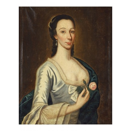 """AMERICAN SCHOOL """"Portrait Of A Lady"""" rose CANVAS PRINT! various SIZES, BRAND NEW"""