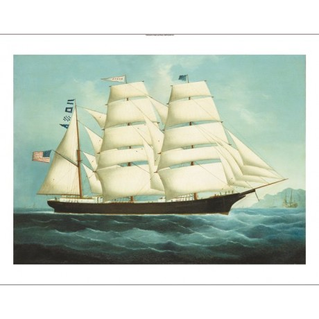 "CHINESE SCHOOL ""The American Clipper Mabel"" ON CANVAS! various SIZES, BRAND NEW"