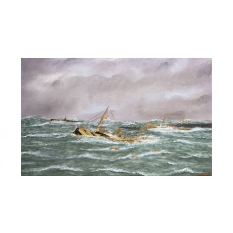 THOMAS WILLIS Last Sinking Of Sussex wreck ship CANVAS! various SIZES, BRAND NEW