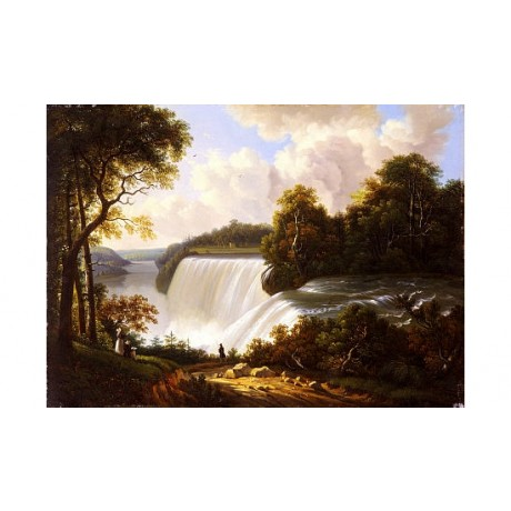 "VICTOR DEGRAILLY ""Niagara Falls Scene"" print ON CANVAS various SIZES, BRAND NEW"