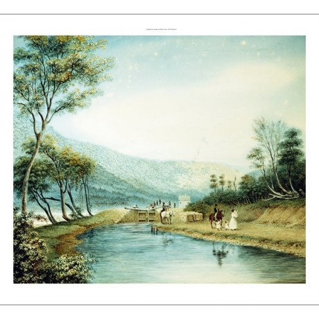 "GEORGE HARVEY ""View of the Erie Canal"" CANVAS print! various SIZES available"