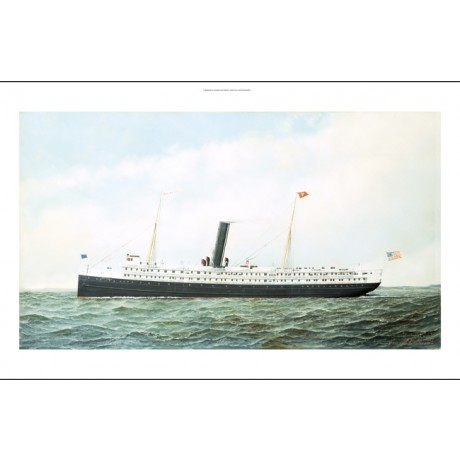 "ANTONIO JACOBSEN ""SS John Englis"" steamship ON CANVAS! various SIZES, BRAND NEW"