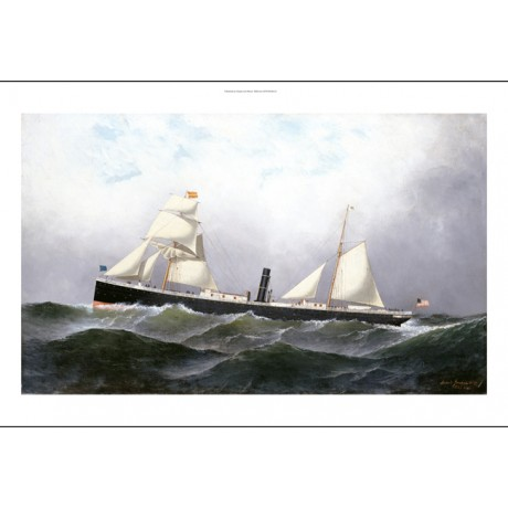 "ANTONIO JACOBSEN ""SS Niagara"" STEAMSHIP canvas PRINT! various SIZES, BRAND NEW"