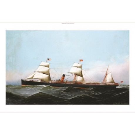 "ANTONIO JACOBSEN ""SS Gallia"" STEAMSHIP see our shop! various SIZES available"
