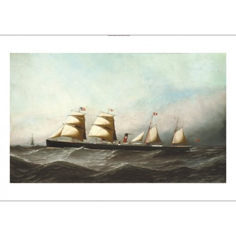 "ANTONIO JACOBSEN ""SS British Crown"" steamship CANVAS! various SIZES, BRAND NEW"
