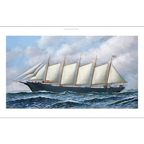 "ANTONIO JACOBSEN ""The Schooner Diria"" SHIP canvas PRINT various SIZES, BRAND NEW"