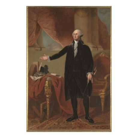 "EDWARD SAVAGE ""George Washington"" american president sword office CANVAS PRINT"