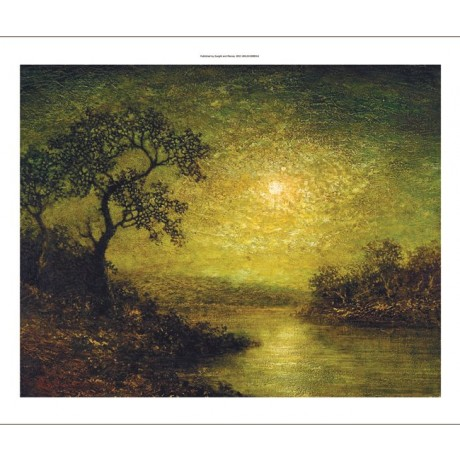 "RALPH ALBERT BLAKELOCK ""Moonlit Landscape"" CANVAS ART various SIZES, BRAND NEW"