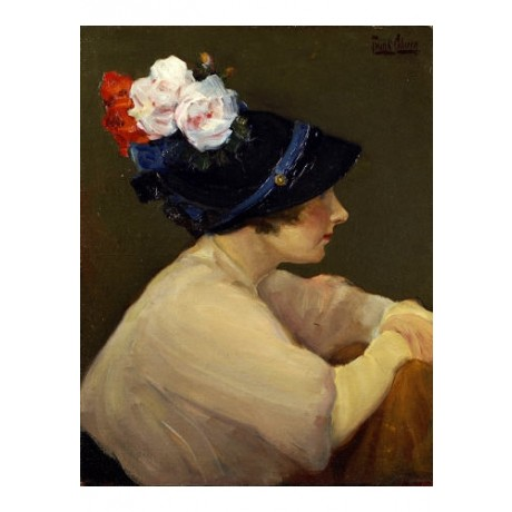 "FRANK COBURN ""New Hat"" CANVAS ART see our shop! choose SIZE, from 55cm up, NEW"