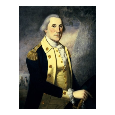 "JAMES PEALE ""George Washington"" Military PRINT New choose your SIZE, from 55cm"