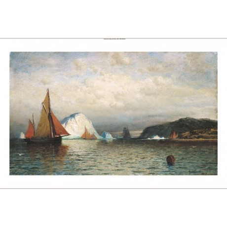 "WILLIAM BRADFORD ""Coast Of Labrador"" SHIP canvas PRINT! various SIZES, BRAND NEW"