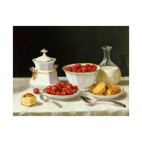 "JOHN F. FRANCIS ""Dessert Table"" print NEW ON CANVAS various SIZES available, NEW"