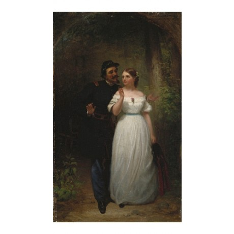 """JOHN GEORGE BROWN """"The Rejected Suitor"""" CANVAS PRINT! various SIZES, BRAND NEW"""
