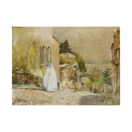 "FREDERICK HASSAM ""Spring Morning Montmarte"" ON CANVAS! various SIZES, BRAND NEW"