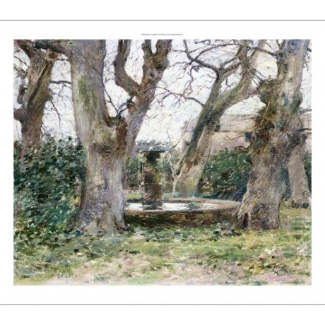 "THEODORE ROBINSON Italian Landscape With A Fountain"" various SIZES available"