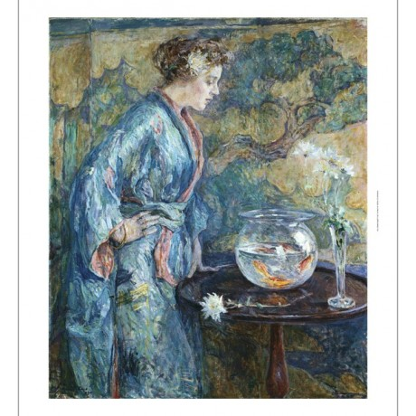 "ROBERT REID ""Girl In Blue Kimono"" BROWSE our eBay SHOP! various SIZES, BRAND NEW"