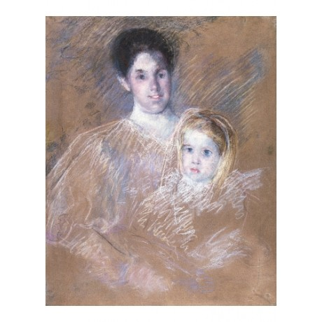 MARY CASSATT Smiling Mother With Child NEW CANVAS print various SIZES, BRAND NEW
