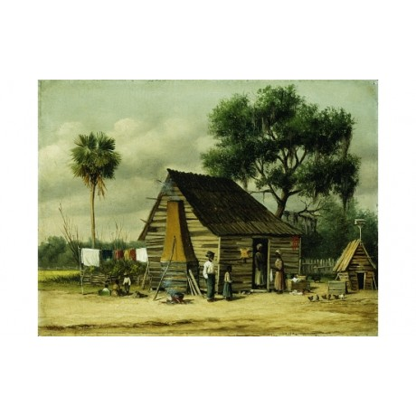 "William Aiken WALKER ""Wash Day"" GENERATION family hen coop laundry shack PRINT"