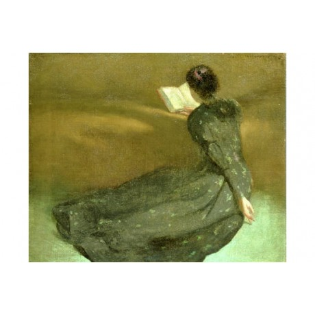 "JOHN WHITE ALEXANDER ""Repose"" portrait ON CANVAS choose SIZE, from 55cm up, NEW"