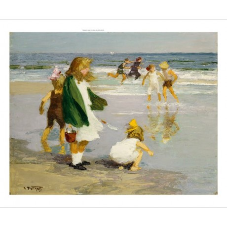 "EDWARD HENRY POTTHAST ""Play In Surf"" CANVAS ART ! choose SIZE, from 55cm up, NEW"