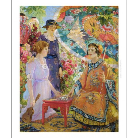 "COLIN CAMPBELL COOPER ""Fortune Teller"" woman CANVAS various SIZES available, NEW"