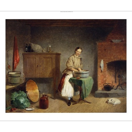 """FRANCIS WILLIAM EDMONDS """"A Dame In The Kitchen"""" CANVAS! various SIZES, BRAND NEW"""