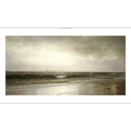 "WILLIAM TROST RICHARDS ""Ebb Tide"" BEACH canvas PRINT! various SIZES, BRAND NEW"