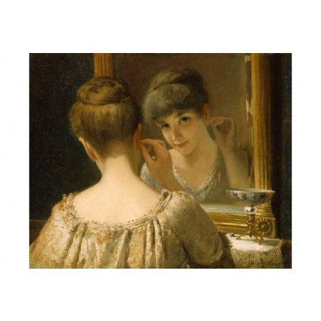 "JAMES WELLS CHAMPNEY ""Coquette"" CANVAS ART ! choose SIZE, from 55cm upwards, NEW"