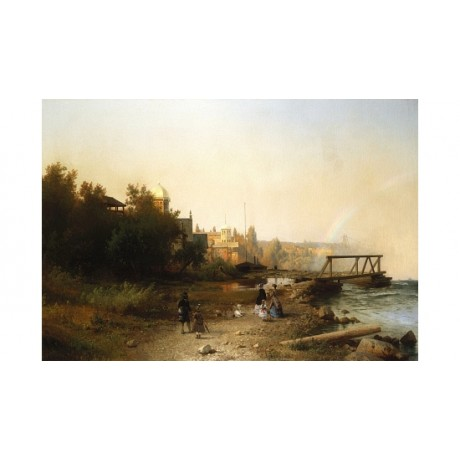 "HERMANN HERZOG ""Niagara From The Museum"" CANVAS PRINT! various SIZES, BRAND NEW"