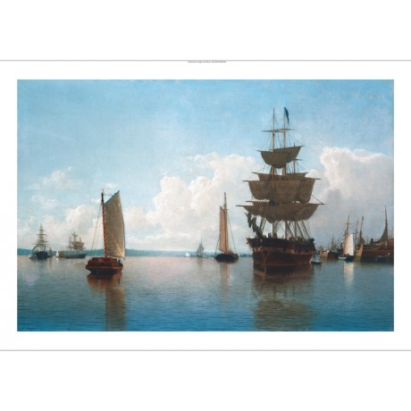 "WILLIAM BRADFORD ""Ships At Harbor"" BROWSE our eBay SHOP various SIZES, BRAND NEW"