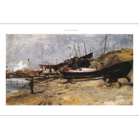 "JOHN HENRY TWACHTMAN ""The Boat Yard"" SEE OUR EBAY SHOP! various SIZES, BRAND NEW"