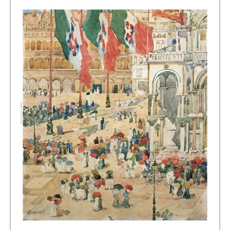 MAURICE BRAZIL PRENDERGAST Piazza of St Marks ON CANVAS various SIZES, BRAND NEW
