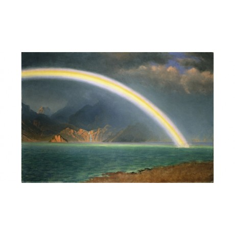 ALBERT BIERSTADT Rainbow Over Jenny Lake Wyoming DREAMSCAPE fantasy NEW CANVAS