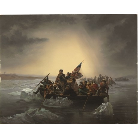JONTINEL Washington Crossing the Delaware flag icebergs NEW CANVAS PRINT giclee