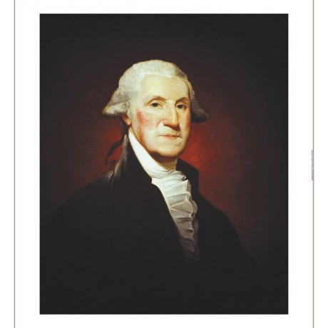 GILBERT STUART George Washington Military ON CANVAS various SIZES available, NEW