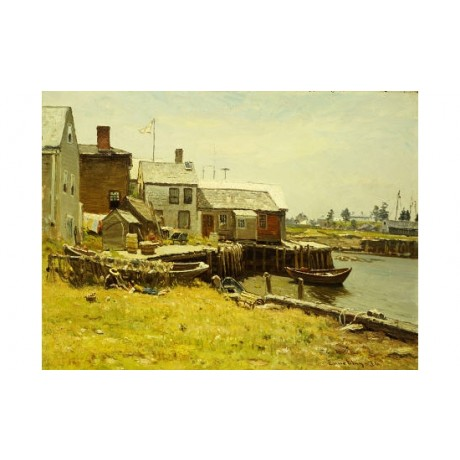 "JOHN JOSEPH ENNEKING ""Fishing Pier CANVAS ART CANVAS various SIZES available"
