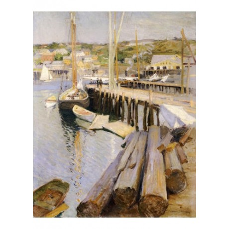 "WILLARD LEROY METCALF ""Fish Wharves - Gloucester"" print various SIZES, BRAND NEW"