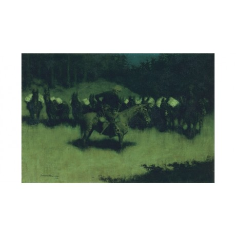 "FREDERIC REMINGTON ""Scare In A Pack Train"" HORSES print various SIZES, BRAND NEW"