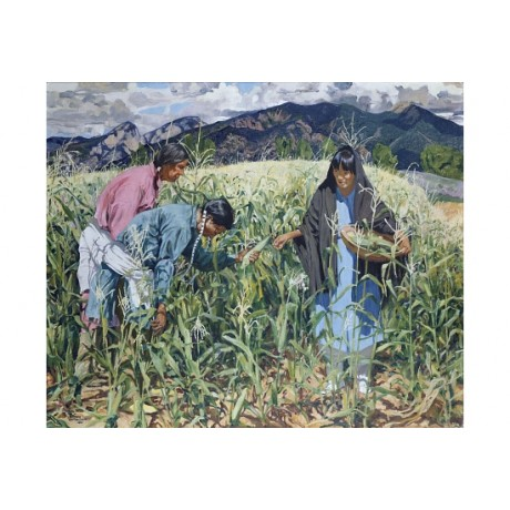 "WALTER UFER ""Picking Young Corn"" INDIAN canvas PRINT! various SIZES, BRAND NEW"